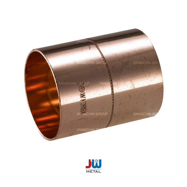 """ข้อต่อตรงทองแดง JW 3/8"""" 1"""