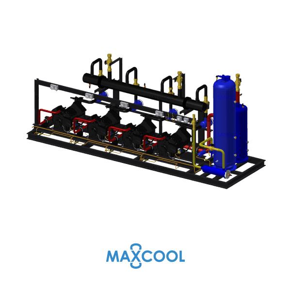 STREAM COMPRESSOR RACK MAXCOOL RDM-140-AB4 1
